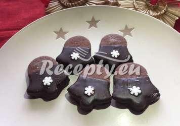 Čokoládové zvonečky s mandlemi