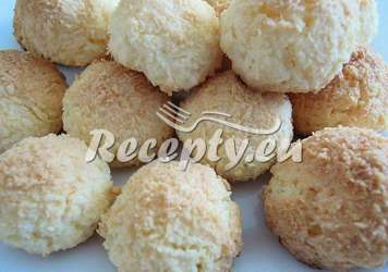 Jednoduché rychlé kokosky Vánoční cukroví