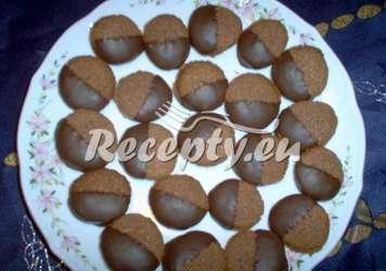 Křehká ořechové kolečka v čokoládě