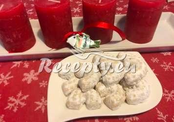Křehké vanilkové rohlíčky Vánoční cukroví