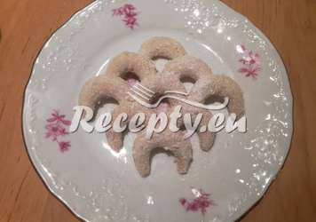 Křehké vánoční vanilkové rohlíčky
