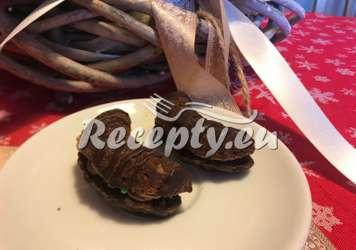 Křehoučké kakaové rohlíčky