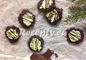 Mátové čokoládové placičky