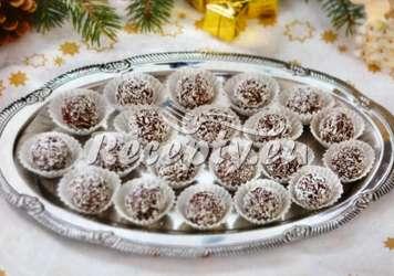 Nepečené koule Vánoční cukroví