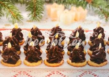 Nepečené špičky Vánoční cukroví