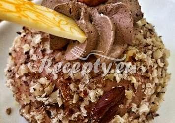 Ořechové cukroví s kakaovým krémem