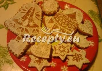 Perníčky s bílkovou polevou podle Růženky Vánoční cukroví