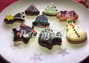 Vánoční zdobené perníčky Vánoční cukroví