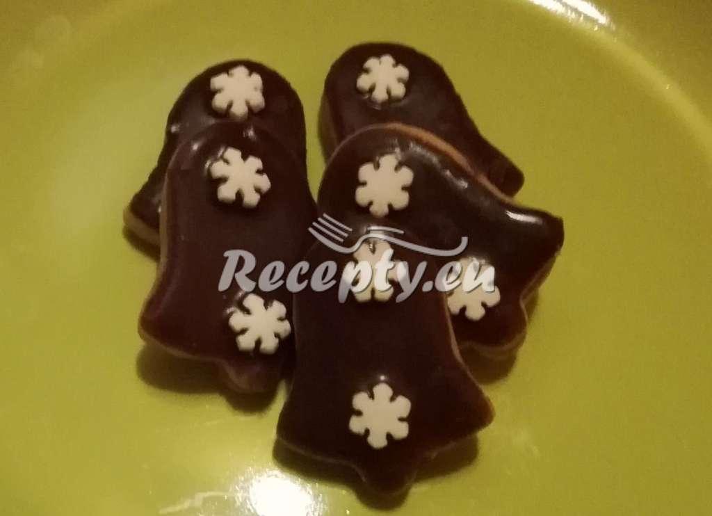 Čokoládové zvonečky slepované nutellou