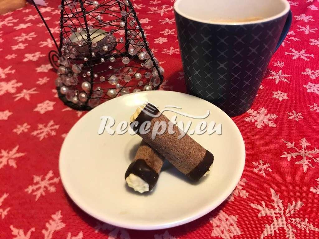 Kakaové trubičky s krémem